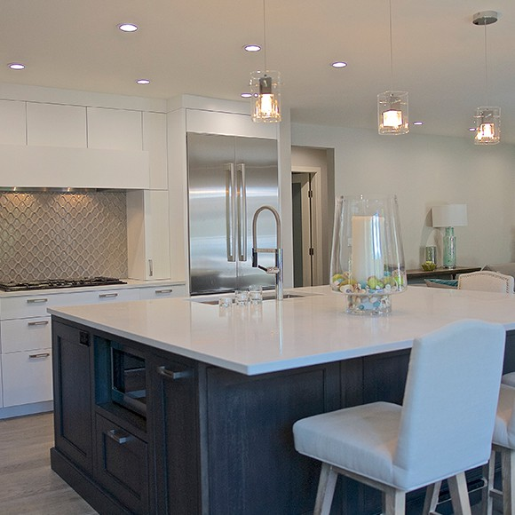 Modern kitchen to promote leading household insurance brokers Full Time Cover