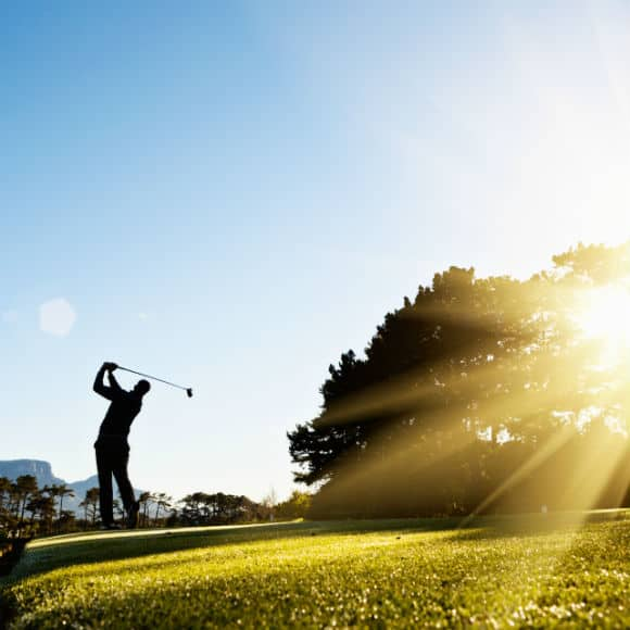 Gold player in full swing to promote leading golf insurance brokers Full Time Cover
