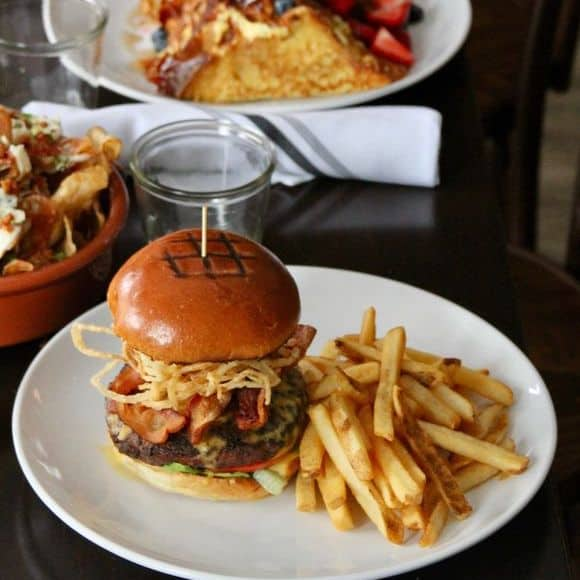 Artisan burger and chips to promote leading hotel insurance brokers full time cover