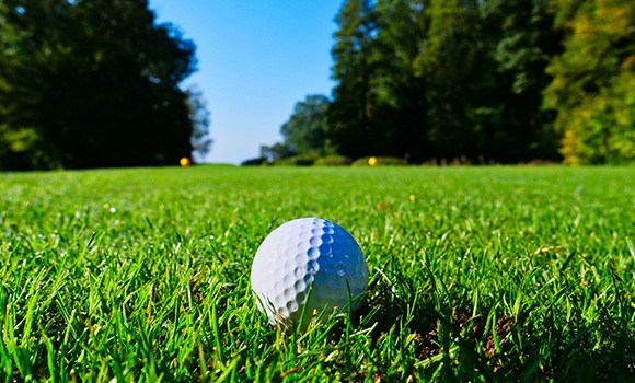 Golf ball on green to promote Full Time Cover's Amateur Golf Insurance